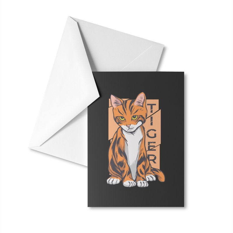 Tiger Cat Accessories Greeting Card by Purrform