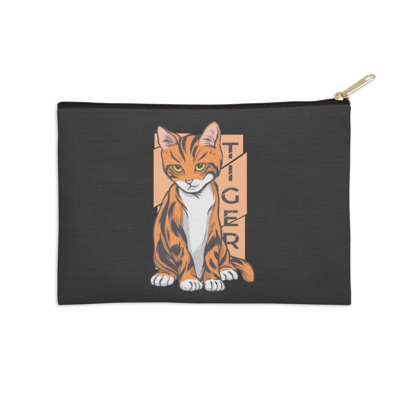 Tiger Cat Accessories Zip Pouch by Purrform