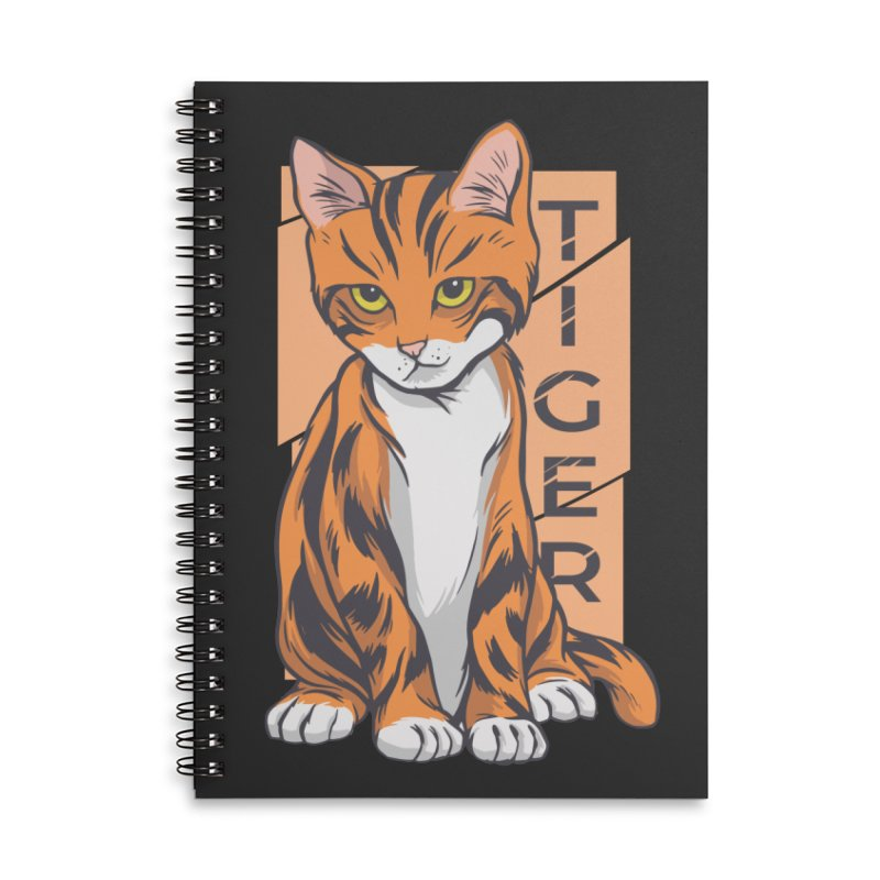Tiger Cat Accessories Notebook by Purrform