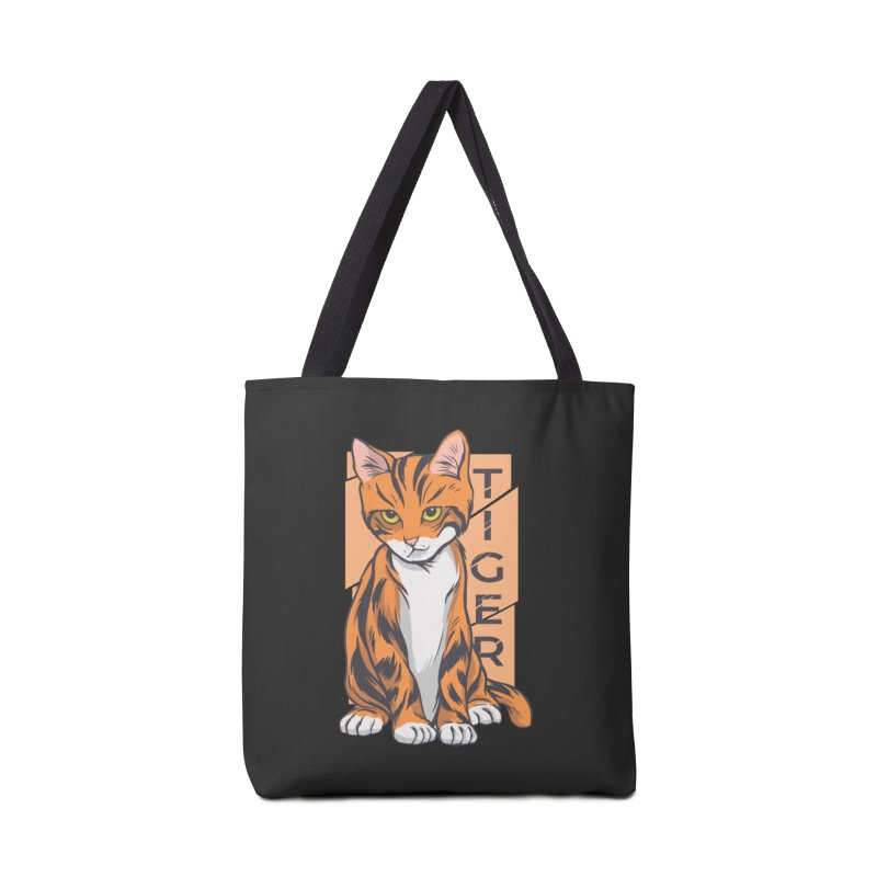 Tiger Cat Accessories Bag by Purrform