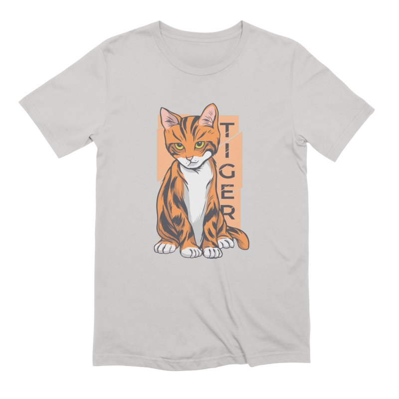 Tiger Cat Men's T-Shirt by Purrform