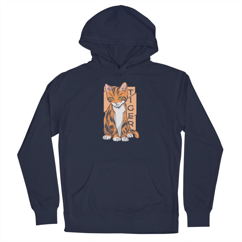 Tiger Cat Men's Pullover Hoody by Purrform