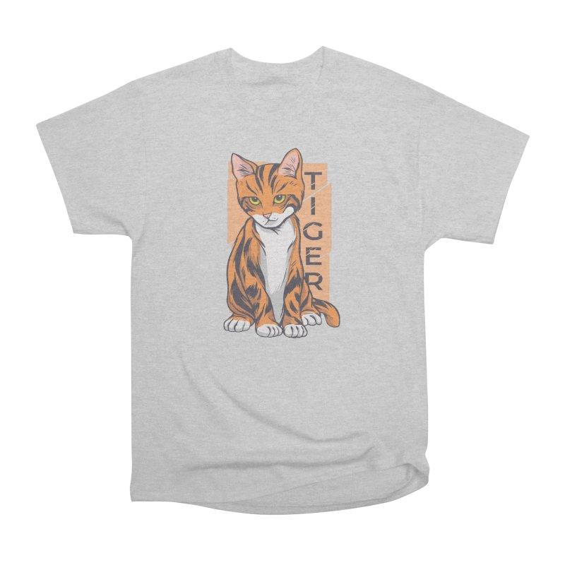 Tiger Cat Men's T-Shirt by Purrform