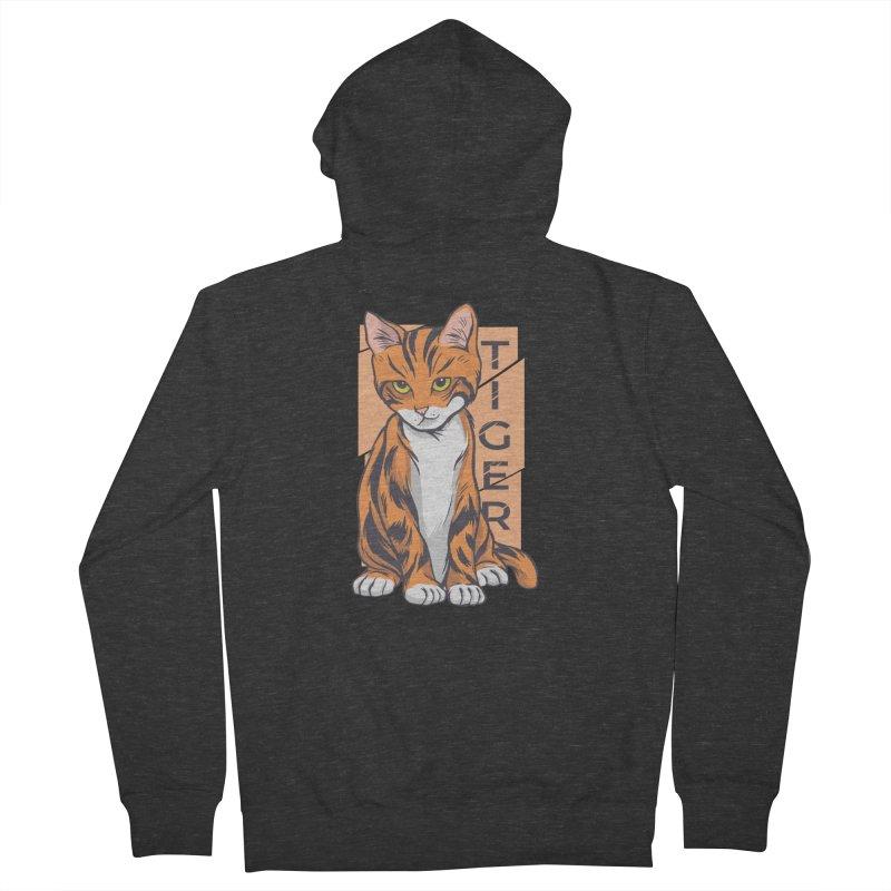 Tiger Cat Men's Zip-Up Hoody by Purrform
