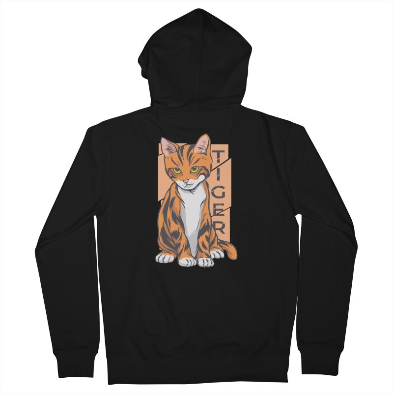 Tiger Cat Men's Zip-Up Hoody by Purrform