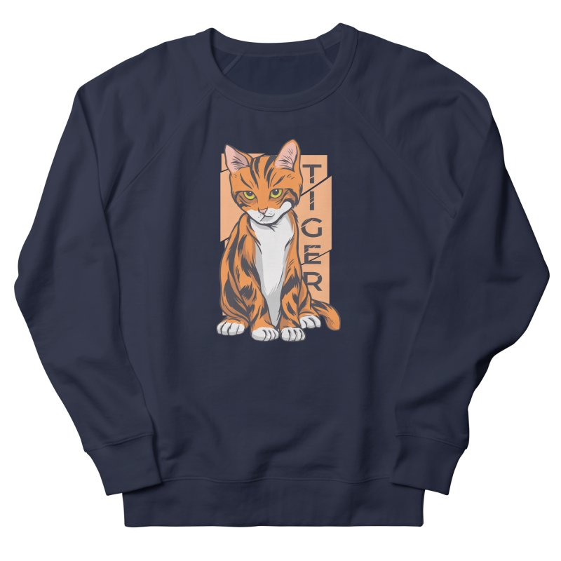 Tiger Cat Men's Sweatshirt by Purrform