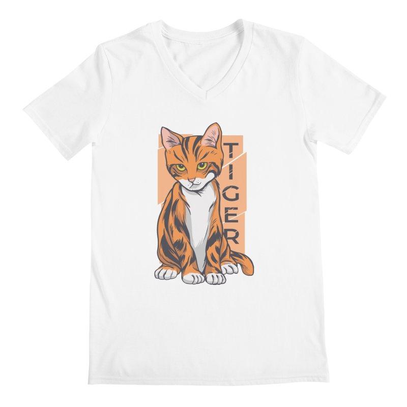 Tiger Cat Men's V-Neck by Purrform