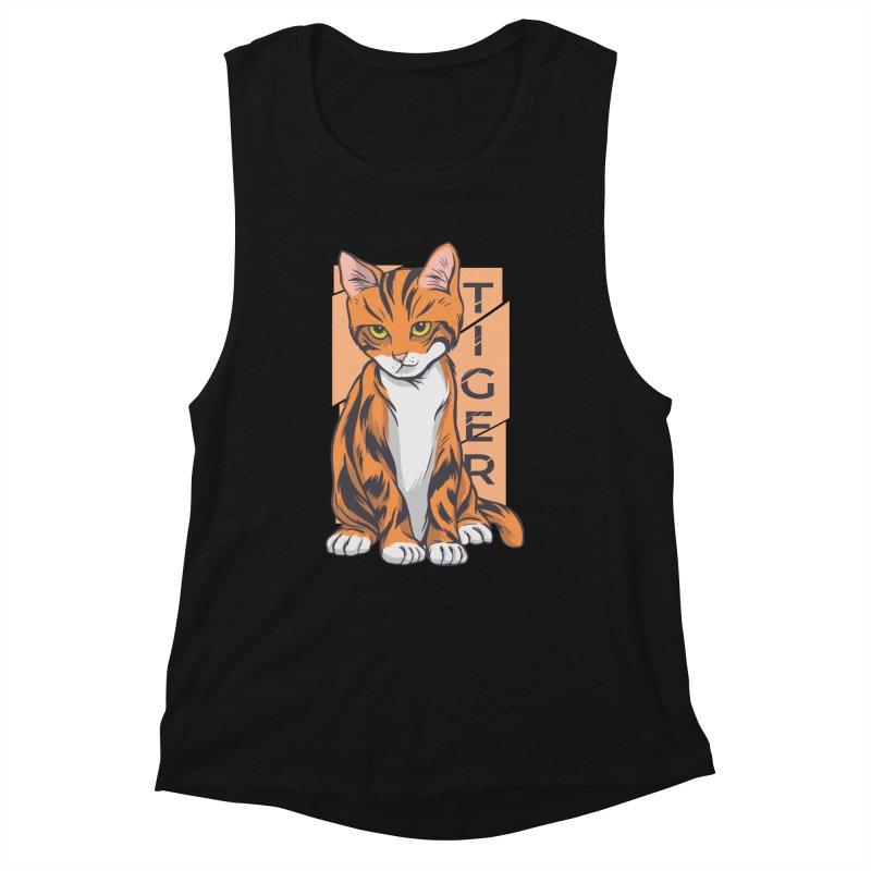 Tiger Cat Women's Tank by Purrform
