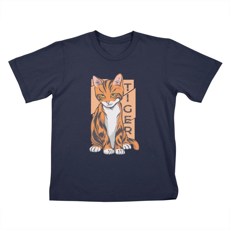 Tiger Cat Kids T-Shirt by Purrform