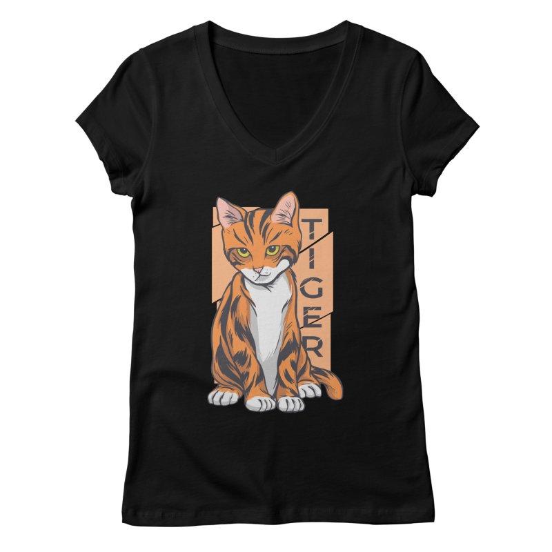 Tiger Cat Women's V-Neck by Purrform