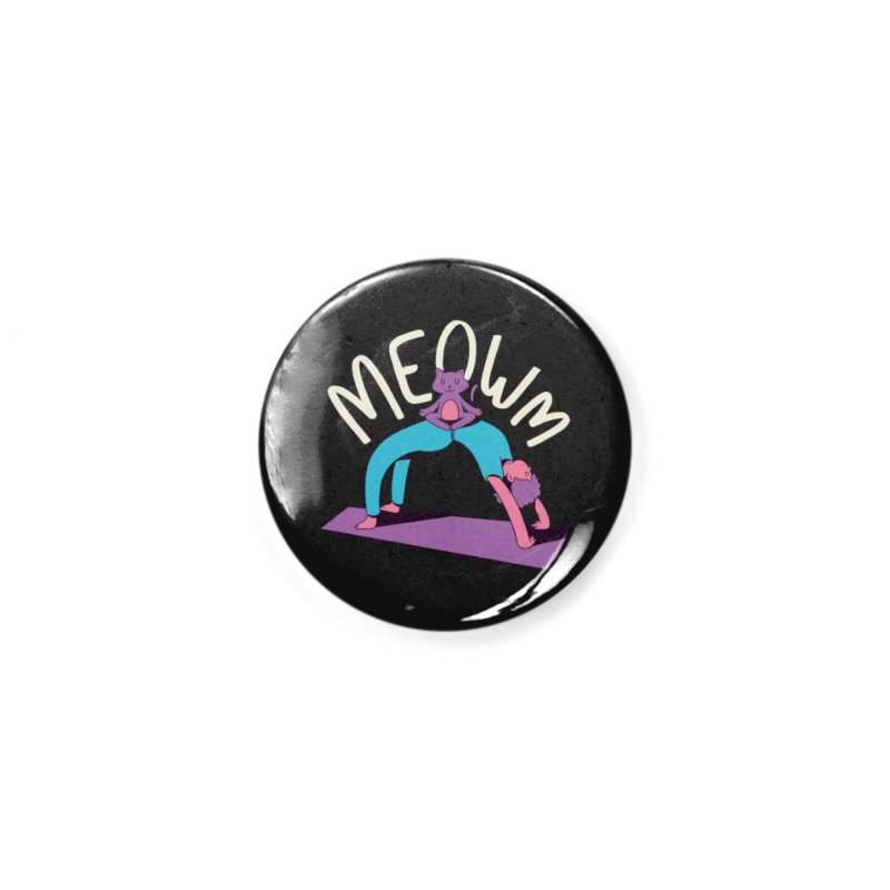 Meow Yoga Accessories Button by Purrform