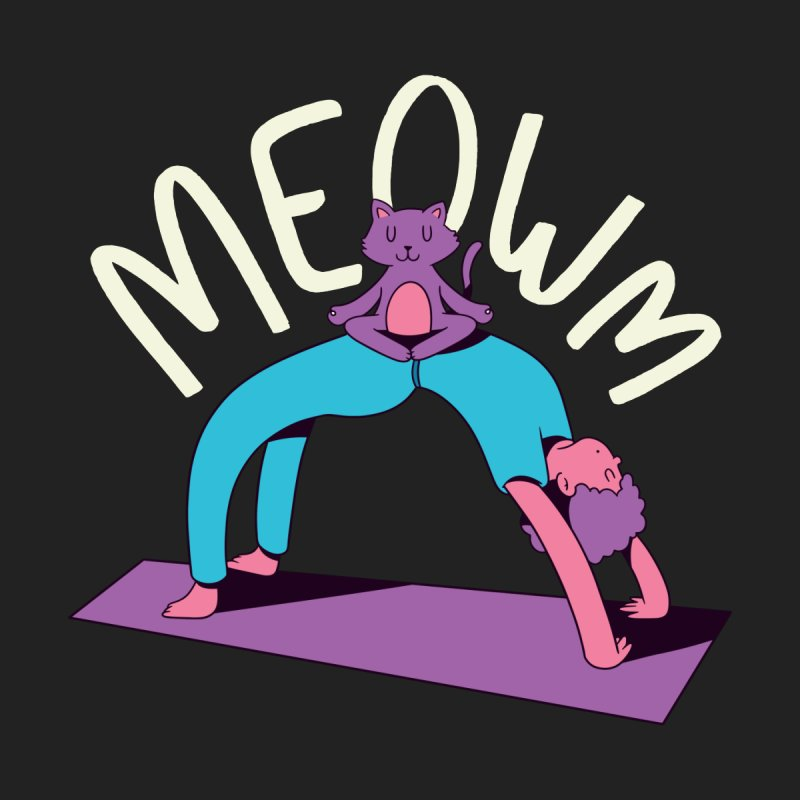 Meow Yoga Home Throw Pillow by Purrform