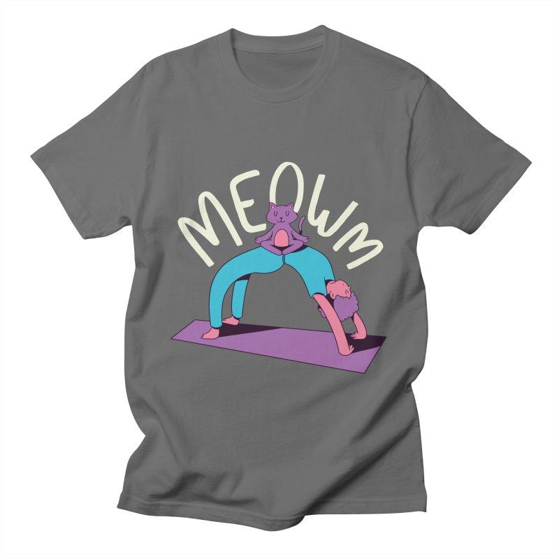 Meow Yoga Men's T-Shirt by Purrform