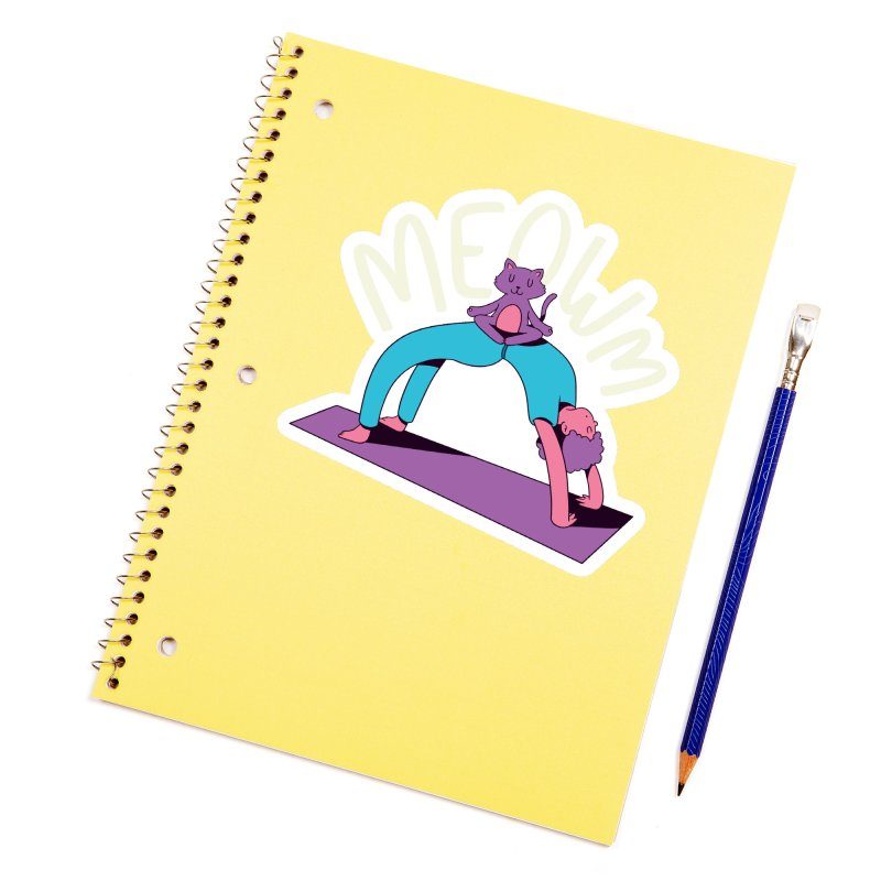 Meow Yoga Accessories Sticker by Purrform