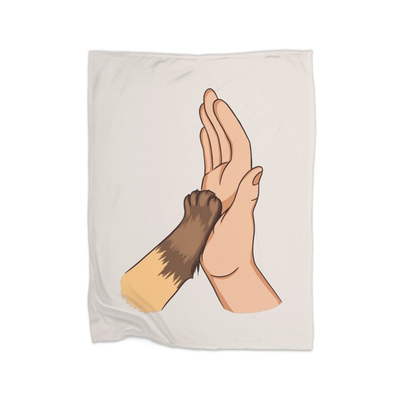 Cat High Five Home Blanket by Purrform