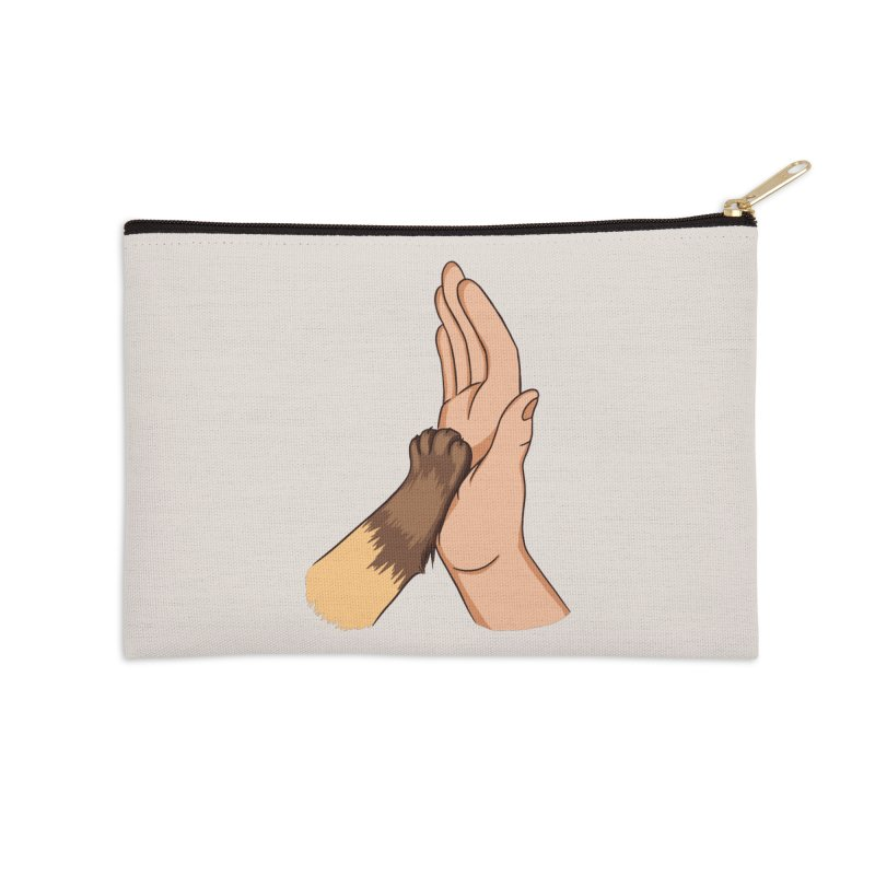 Cat High Five Accessories Zip Pouch by Purrform