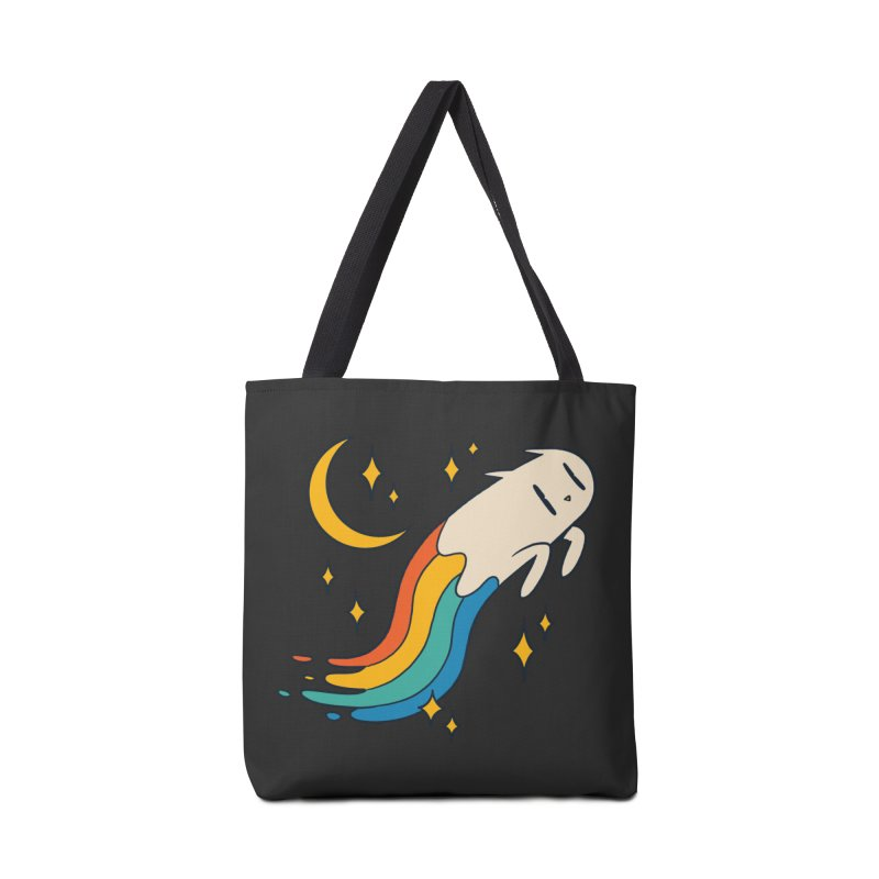 Flying Cat Rainbow Accessories Bag by Purrform
