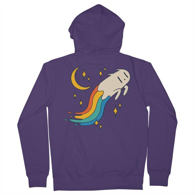 Flying Cat Rainbow Women's Zip-Up Hoody by Purrform