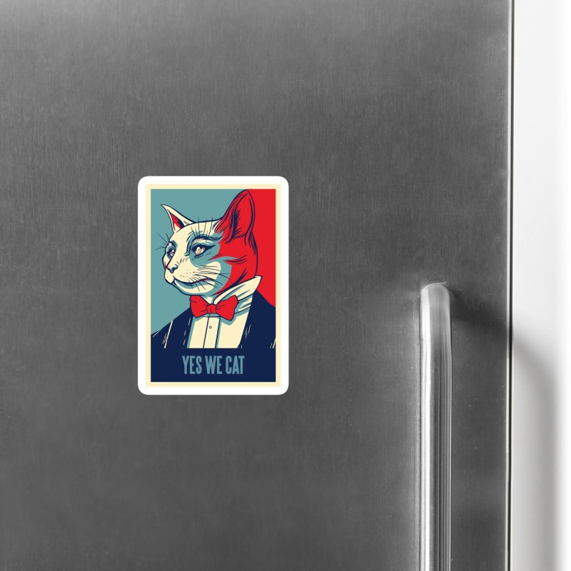 Yes We Cat Accessories Magnet by Purrform
