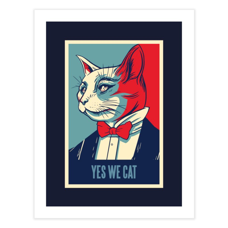 Yes We Cat Home Fine Art Print by Purrform