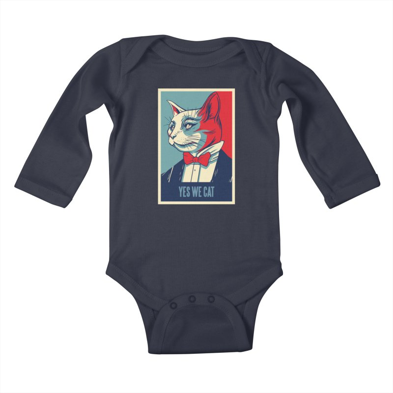 Yes We Cat Kids Baby Longsleeve Bodysuit by Purrform
