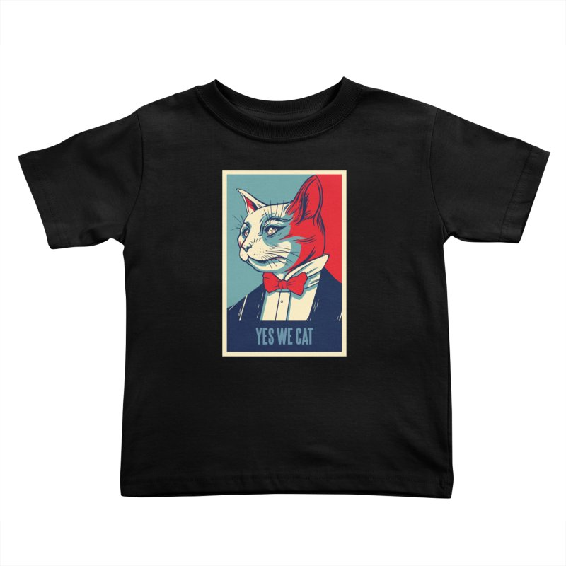 Yes We Cat Kids Toddler T-Shirt by Purrform
