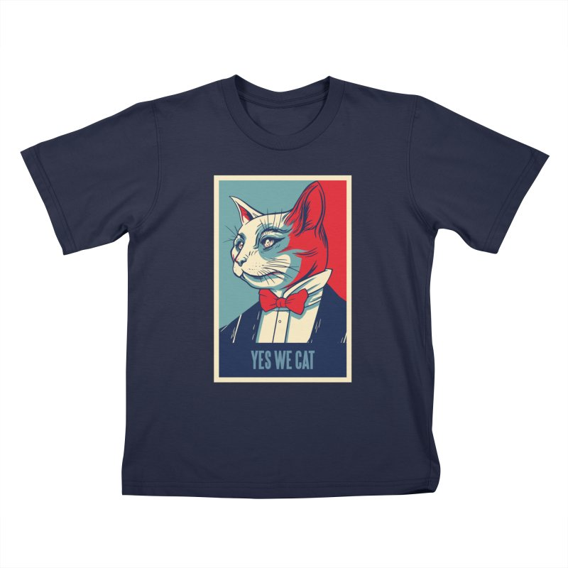 Yes We Cat Kids T-Shirt by Purrform
