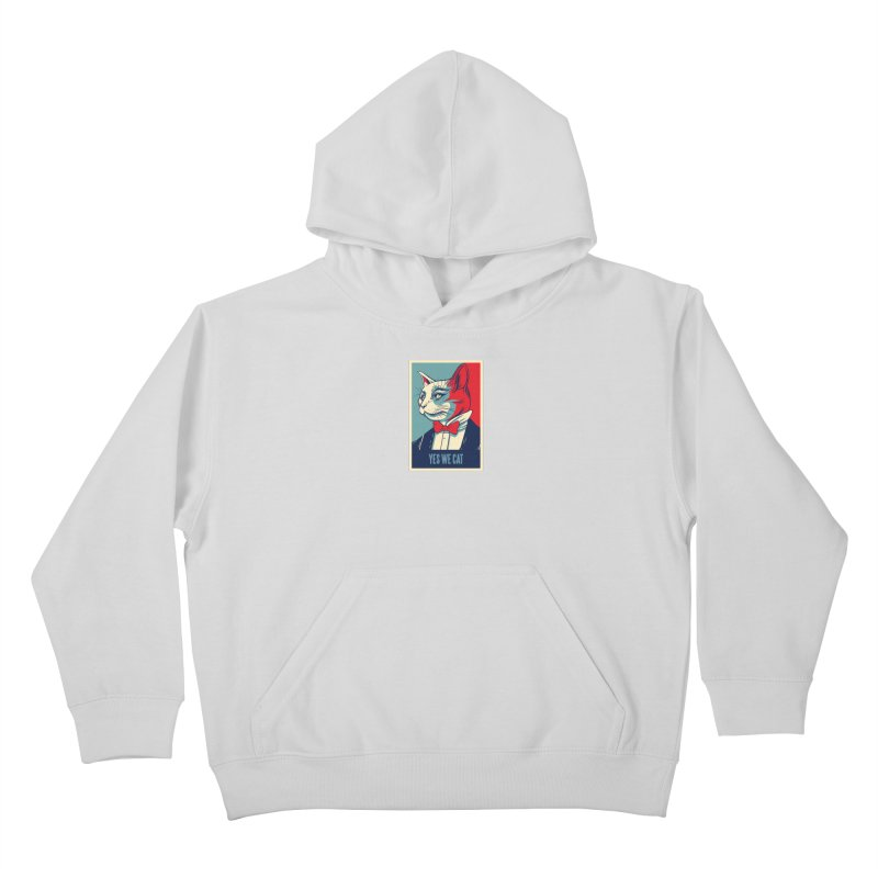 Yes We Cat Kids Pullover Hoody by Purrform