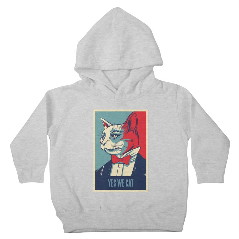 Yes We Cat Kids Toddler Pullover Hoody by Purrform