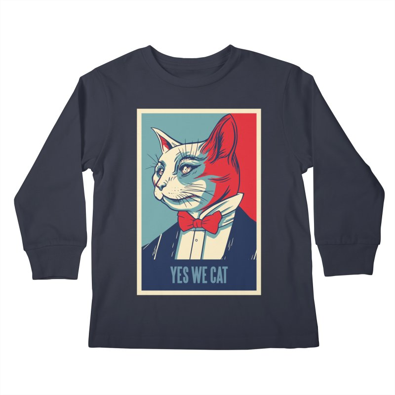 Yes We Cat Kids Longsleeve T-Shirt by Purrform