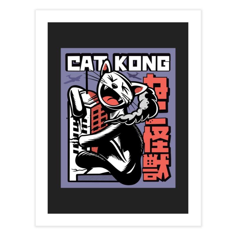 Cat Kong Home Decor Fine Art Print by Purrform