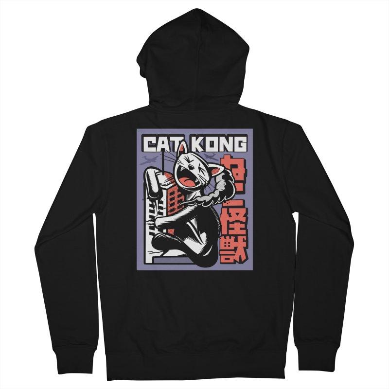 Cat Kong Men's Zip-Up Hoody by Purrform