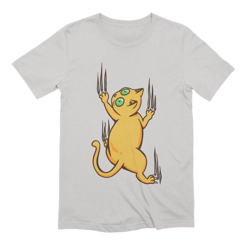 Clinging Cat Men's T-Shirt by Purrform