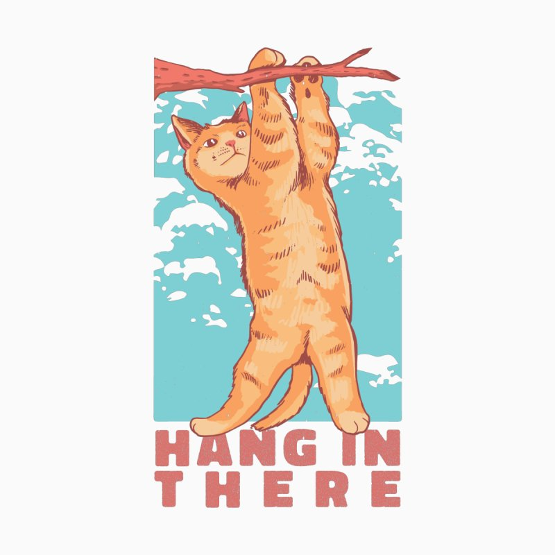 Hang In There Cat Accessories Notebook by Purrform