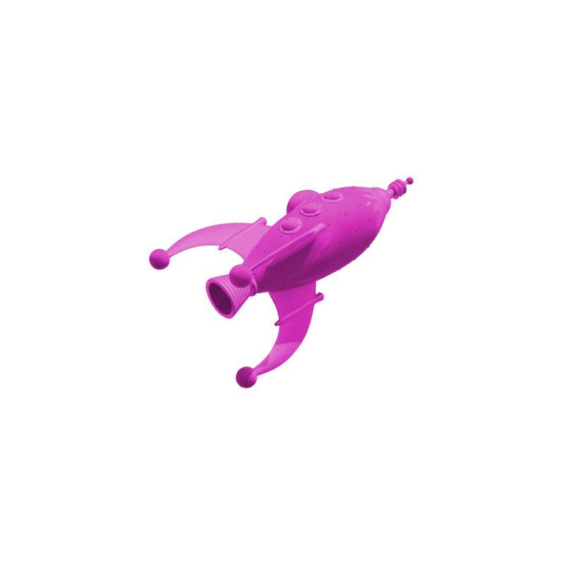 Pink Pocket Rocket Men's Zip-Up Hoody by PVFOS Merch