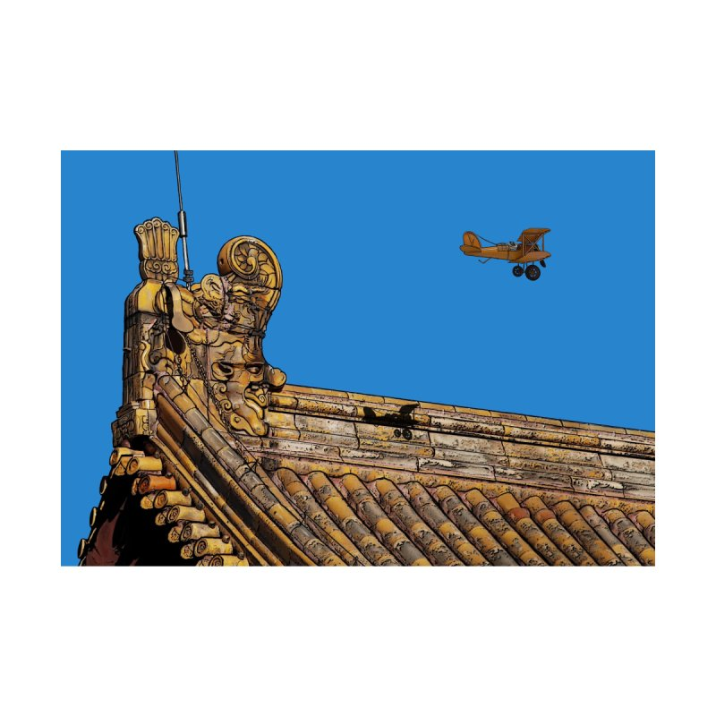 Spike the Avaitor over the Forbidden City Home Framed Fine Art Print by The Pvt Murphy Loot Shop