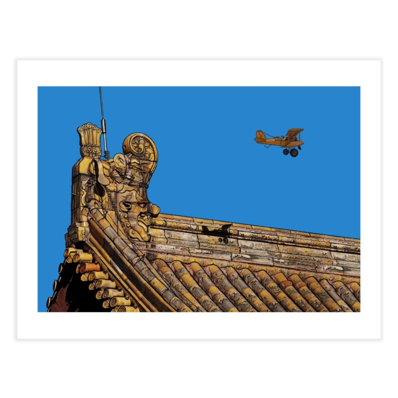 Spike the Avaitor over the Forbidden City Home Fine Art Print by The Pvt Murphy Loot Shop