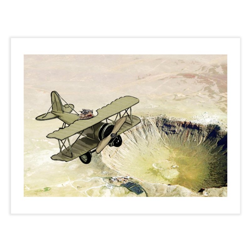 Spike over the Meteor Crater Home Fine Art Print by The Pvt Murphy Loot Shop