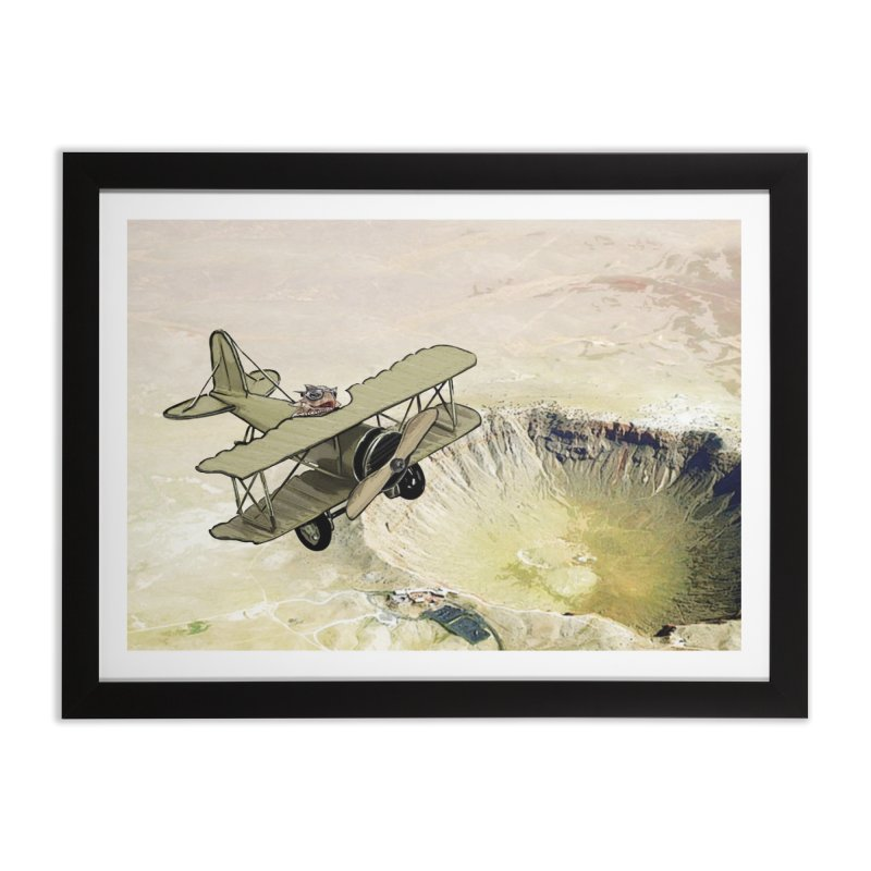 Spike over the Meteor Crater Home Framed Fine Art Print by The Pvt Murphy Loot Shop