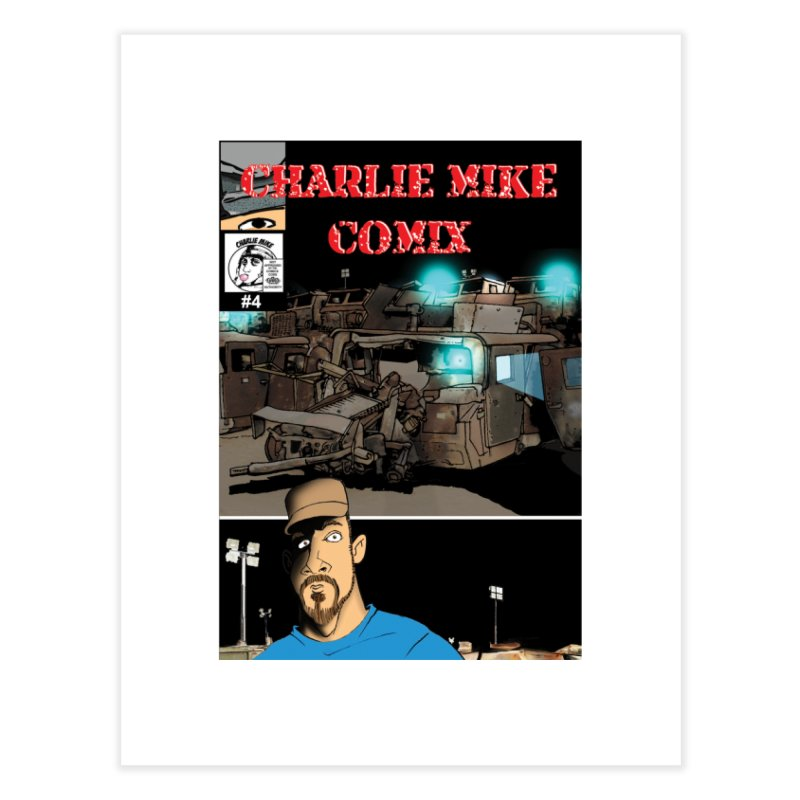 Charlie Mike Comix Issue 4 Cover Home Fine Art Print by The Pvt Murphy Loot Shop