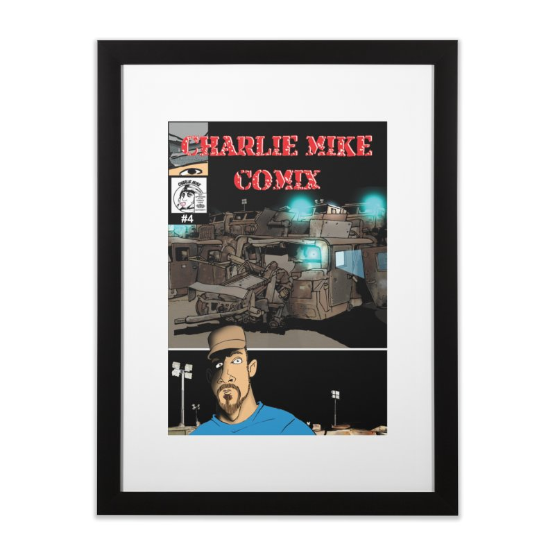 Charlie Mike Comix Issue 4 Cover Home Framed Fine Art Print by The Pvt Murphy Loot Shop