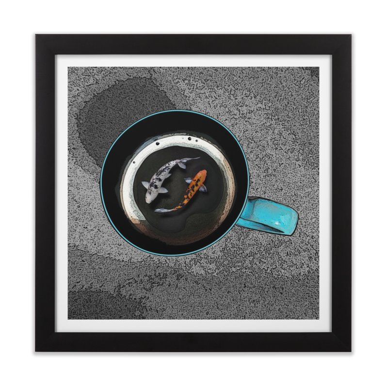 2 Koi in a Cup Home Framed Fine Art Print by The Pvt Murphy Loot Shop
