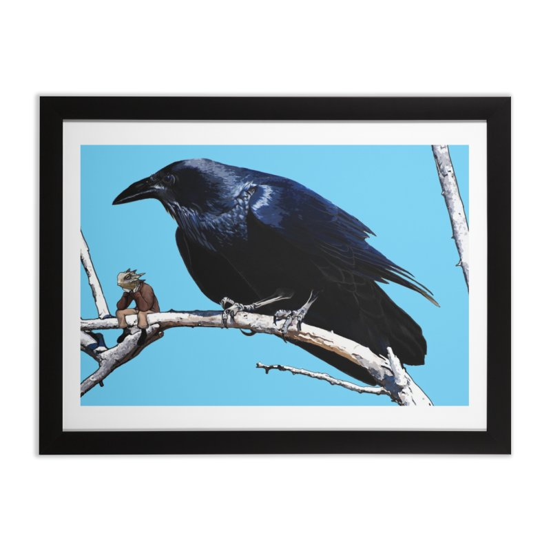 Carla Crow and Spike Home Framed Fine Art Print by The Pvt Murphy Loot Shop