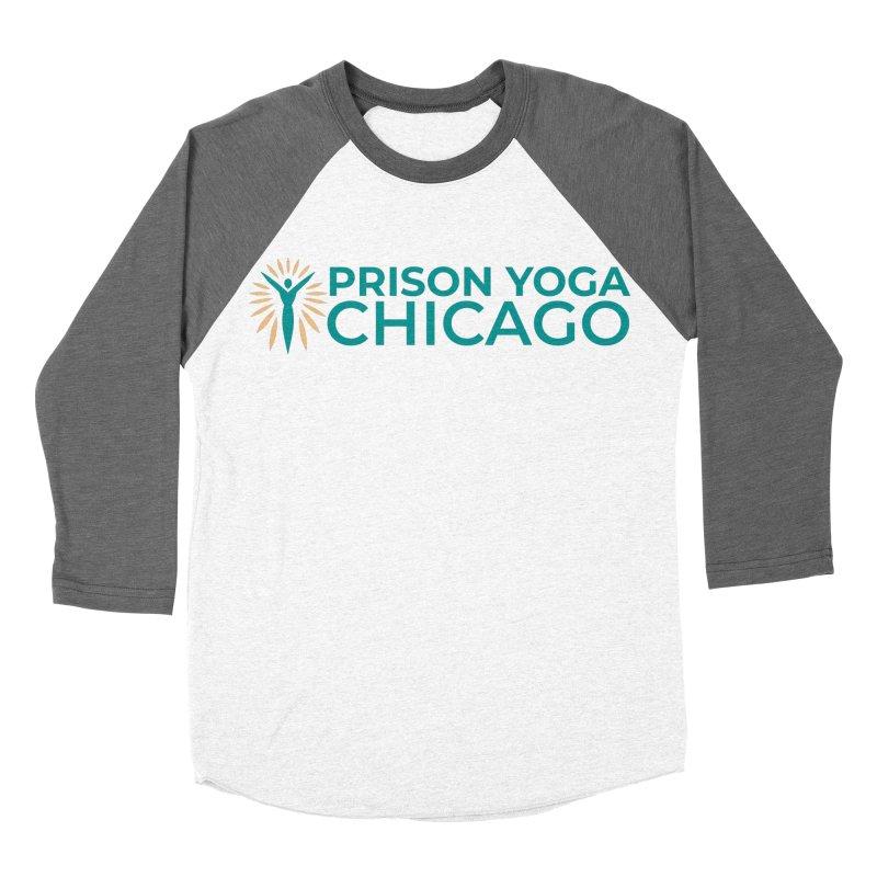 Prison Yoga Chicago Men's Baseball Triblend Longsleeve T-Shirt by Support Prison Yoga Chicago