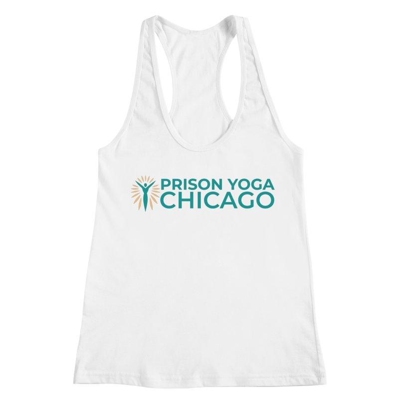 Prison Yoga Chicago Women's Racerback Tank by Support Prison Yoga Chicago