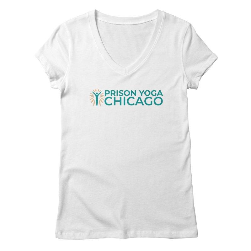 Prison Yoga Chicago Women's Regular V-Neck by Support Prison Yoga Chicago
