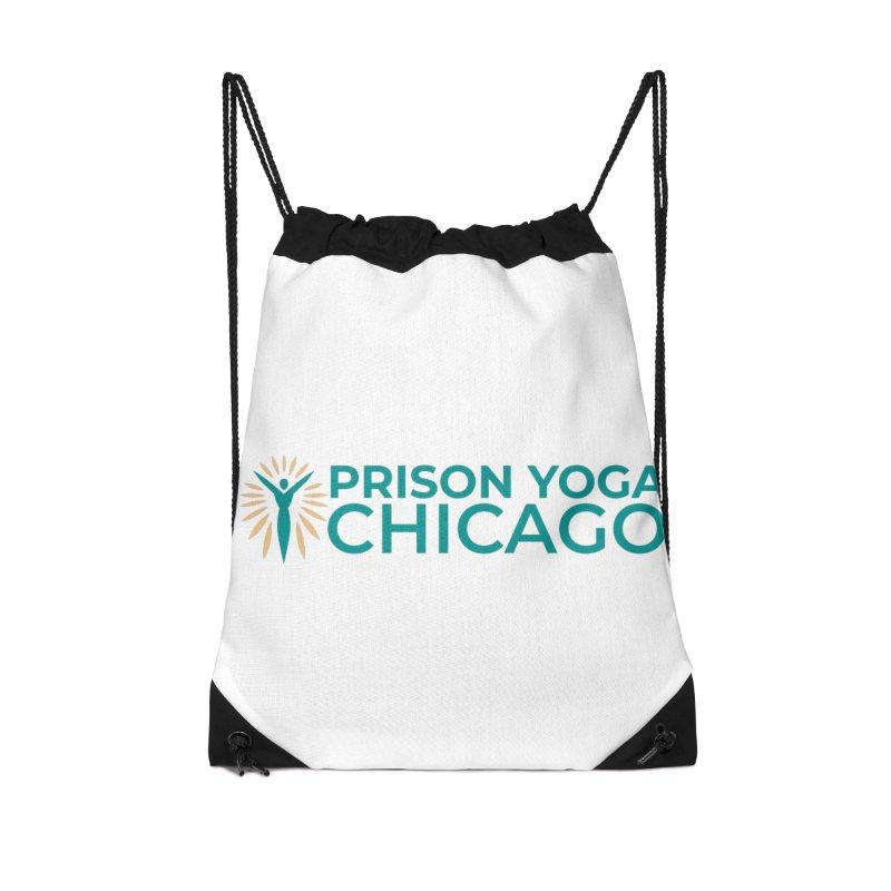 Prison Yoga Chicago Accessories Drawstring Bag Bag by Support Prison Yoga Chicago