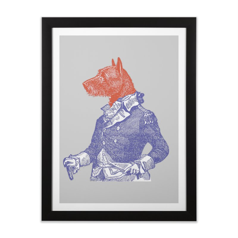 General Dog Home Framed Fine Art Print by Artist Shop of Pyramid Expander