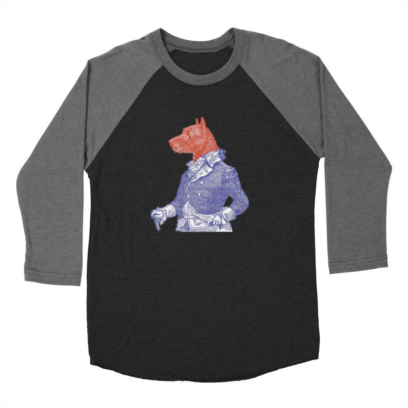 General Dog Men's Baseball Triblend Longsleeve T-Shirt by Artist Shop of Pyramid Expander