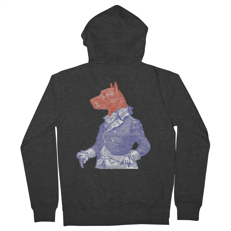 General Dog Men's French Terry Zip-Up Hoody by Artist Shop of Pyramid Expander